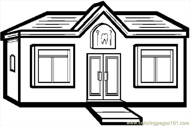Dentists Office Coloring Page