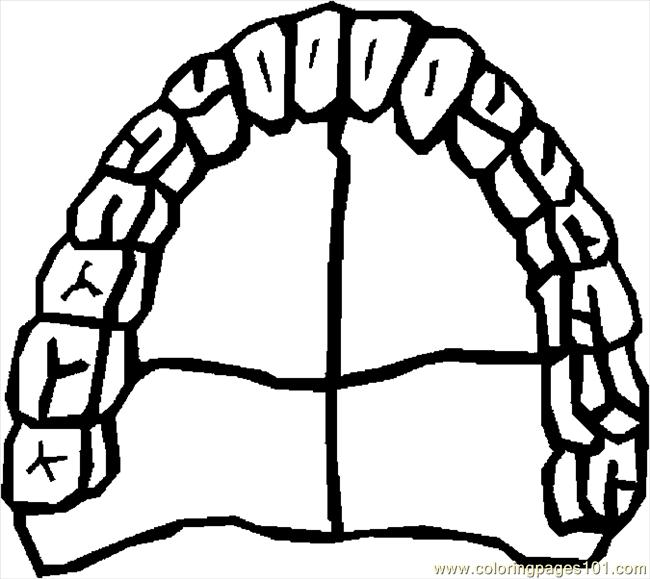 Teeth 1 Coloring Page - Free Doctors Coloring Pages ...