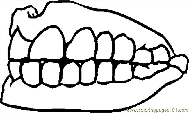 teeth 2 coloring page free doctors coloring pages