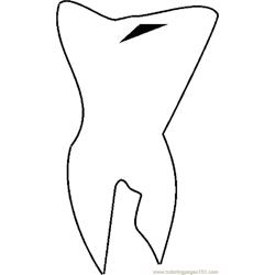 Tooth 06 coloring page