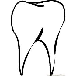 Tooth 07 coloring page