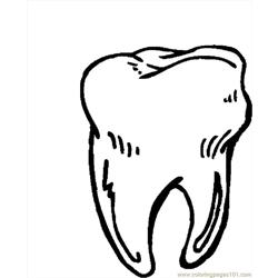 Tooth 11 coloring page