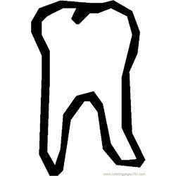 Tooth 19 Free Coloring Page for Kids