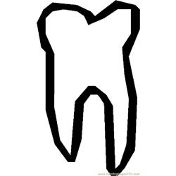 Tooth 20 Free Coloring Page for Kids