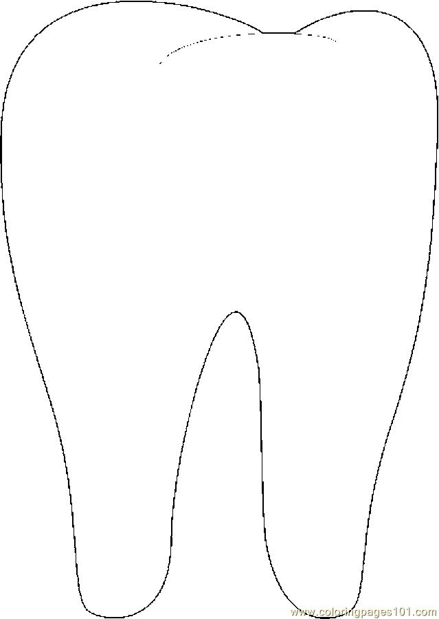 Tooth 02 coloring page