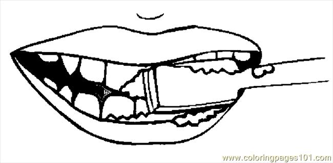 Toothbrush 2 Coloring Page Free Doctors Coloring Pages