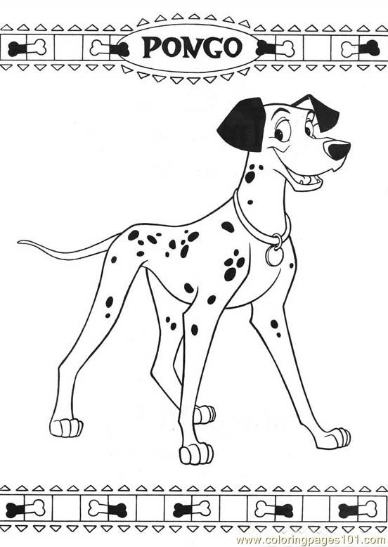 101 Dalmatians 43 Coloring Page Free Dog Coloring Pages - pointer animal coloring pages