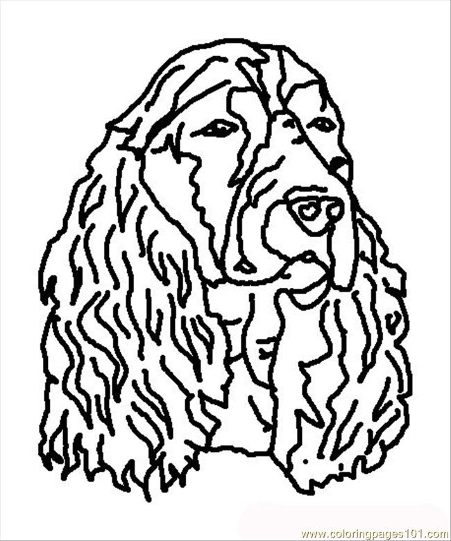 Dog Face Coloring Page