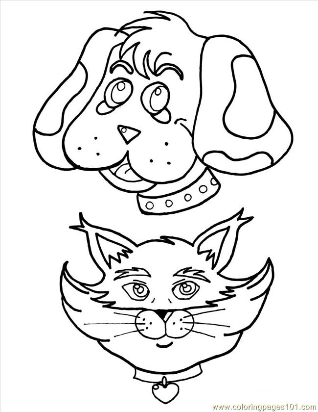 Cat And Dog Source O1p Coloring Page