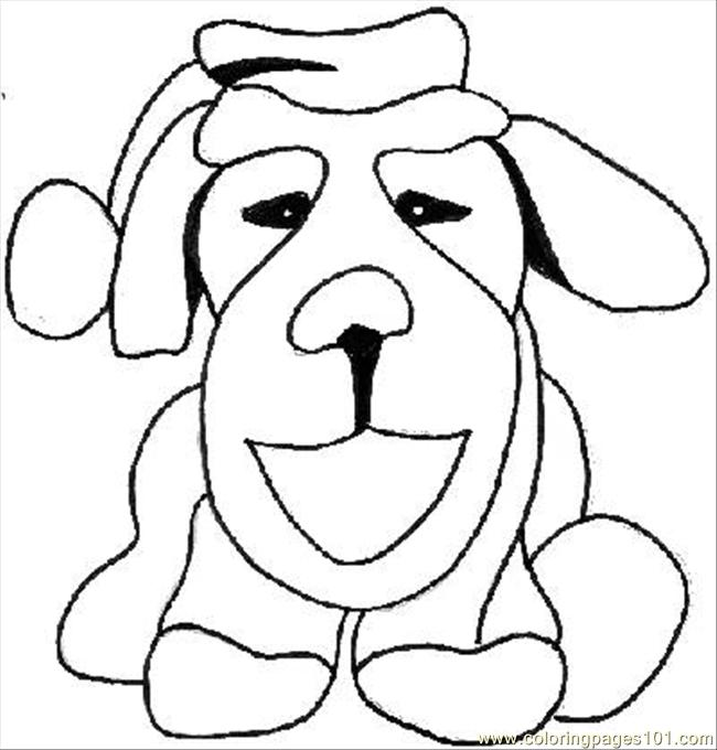 Christmas Dog Taylor Coloring Page