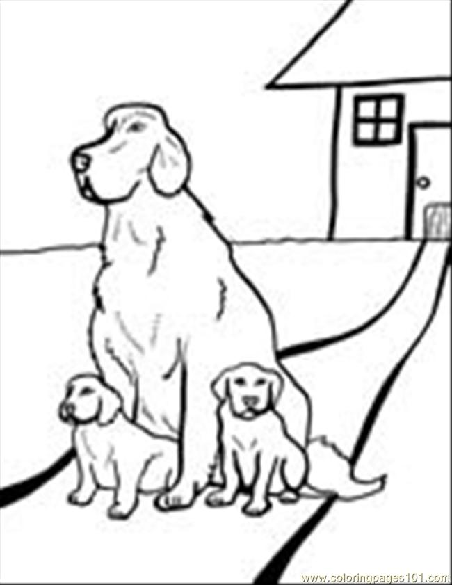 Dog Coloring Pages 02 Coloring Page