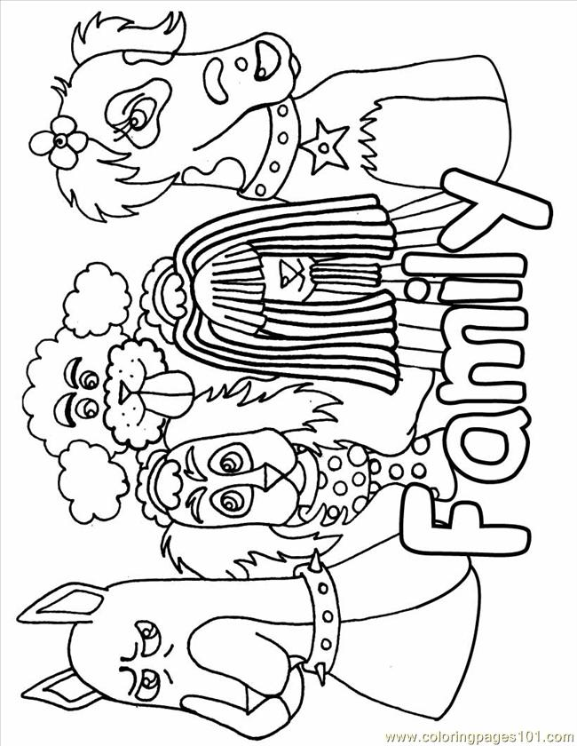 Dog Family Source Vig Coloring Page