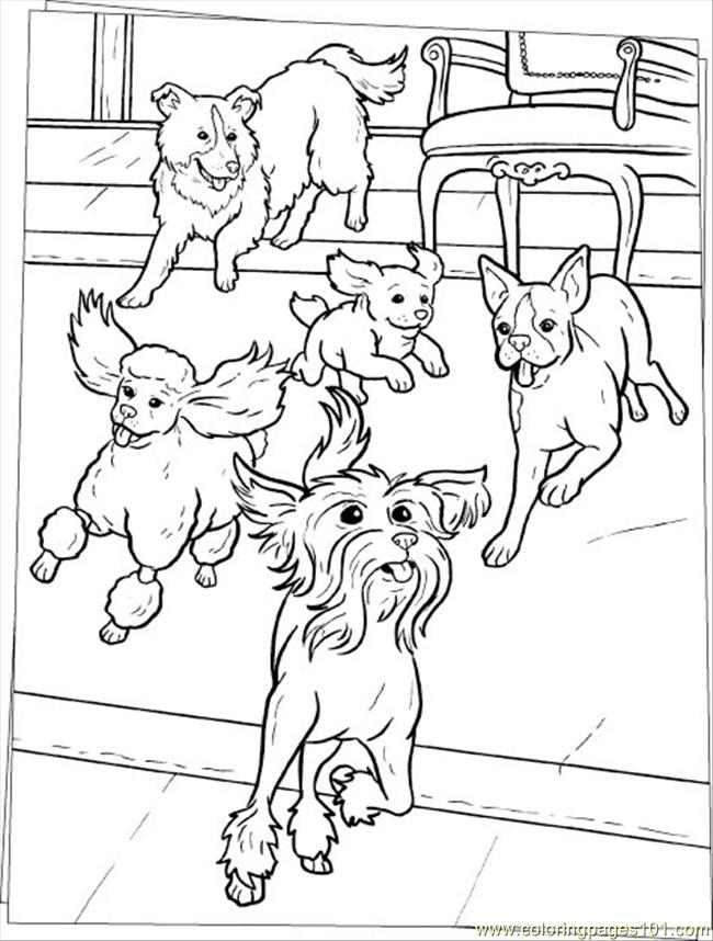 Dogs Coloring Page Source Scb Coloring Page