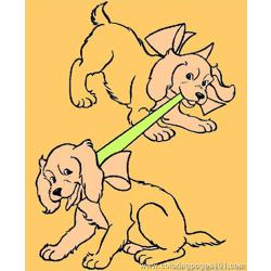 Two Dogs Free Coloring Page for Kids