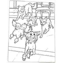 Dogs Coloring Page Source Scb