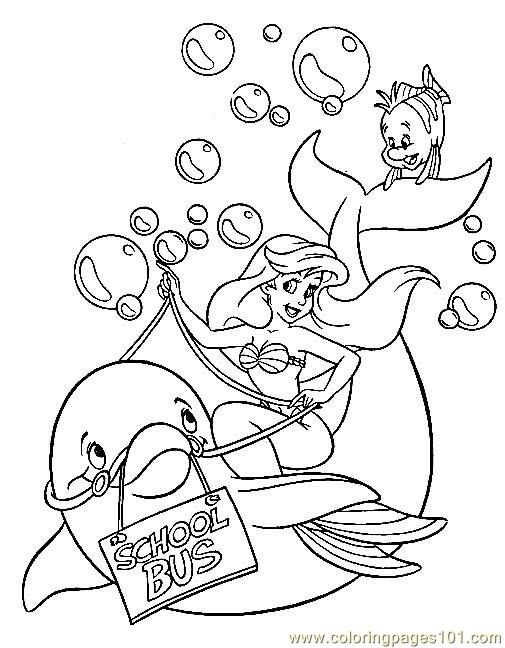 Bus Dolphincoloring Coloring Page