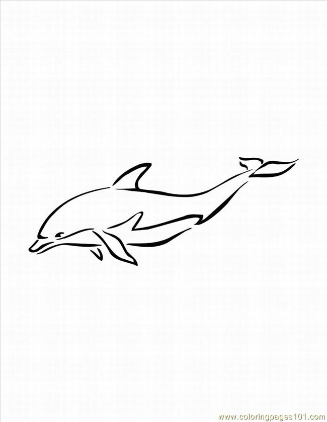 Dolphins Coloring Pages 2 Lrg Page