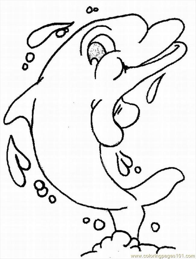 Dolphins Coloring Pages 3 Lrg Coloring Page