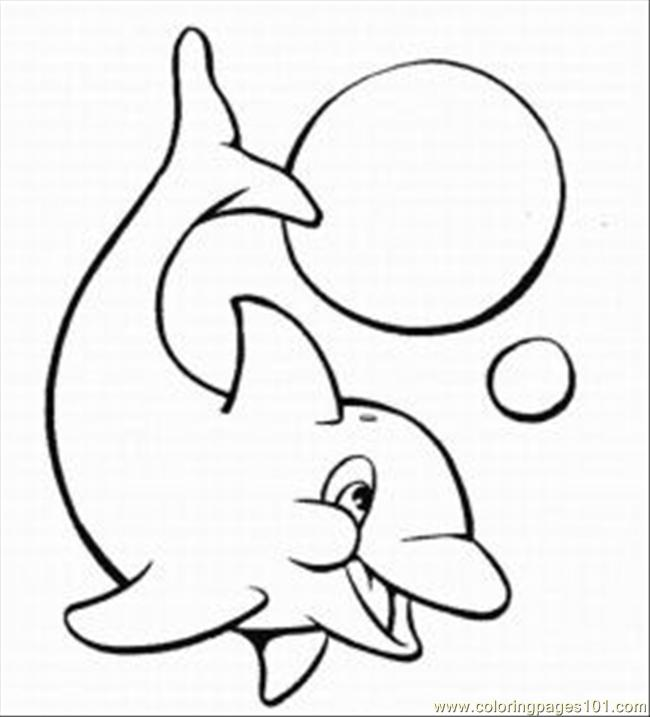 Dolphins Coloring Pages 5 Med Coloring Page
