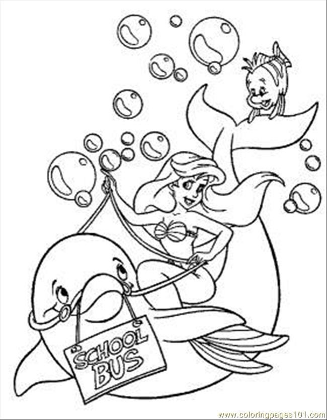 Riding Dolphin Coloring Page