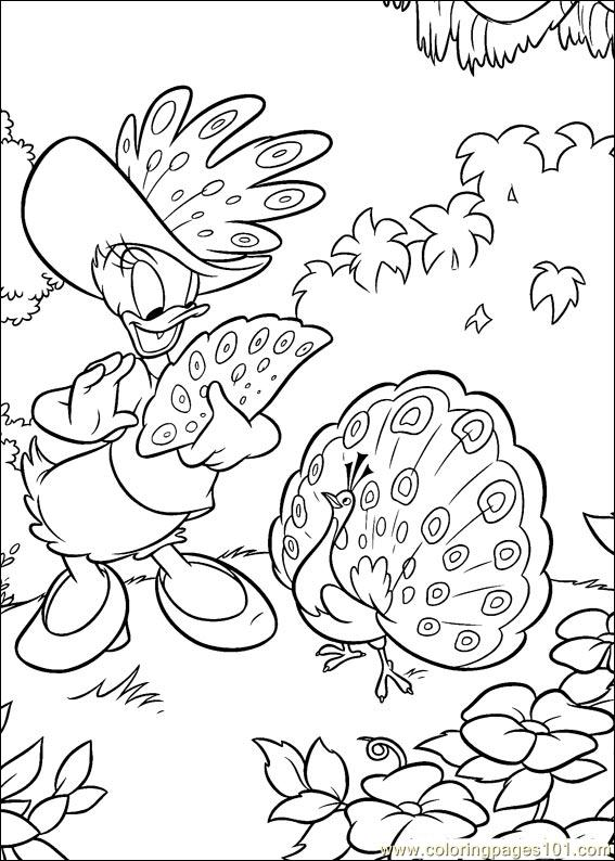 Donald Duck 98 Coloring Page