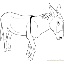 Poor Donkey Free Coloring Page for Kids