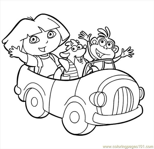 dora picture 2 coloring page - Dora Explorer Coloring Pages Free Printable