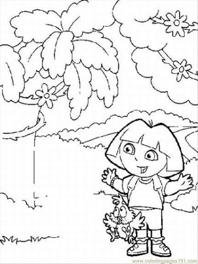free printable coloring pages for dora the explorer cooloring com ... | 867x650