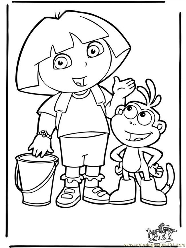 Dora the explorer 4 b3003 coloring page free dora the for Dora the explorer coloring pages online free