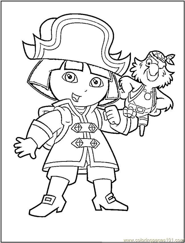 Dora The Pirate Coloring Page Free Dora the Explorer