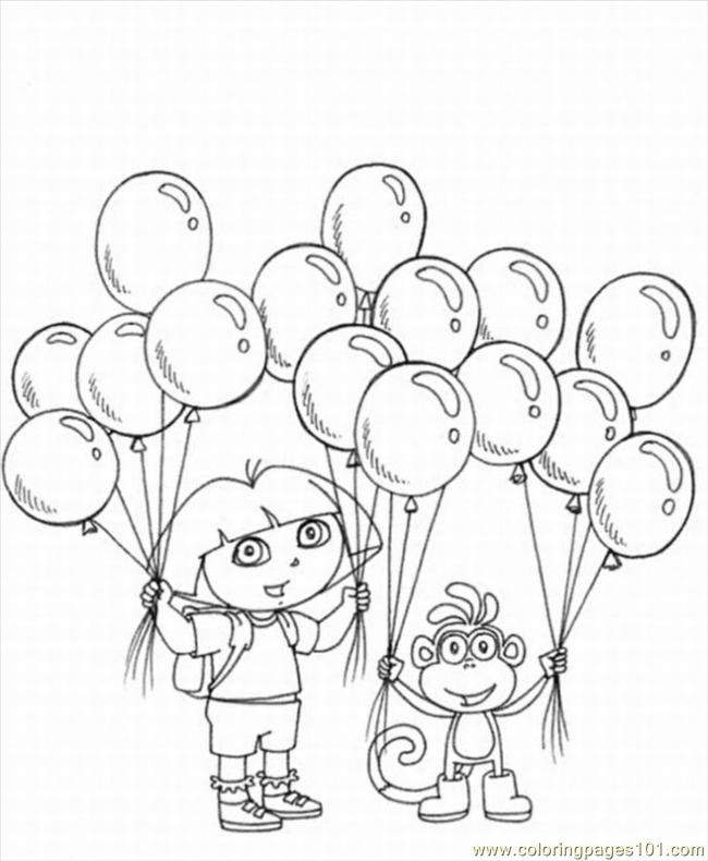 explorer coloring pages 5 lrg coloring page - Dora The Explorer Pictures To Color And Print