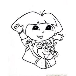 Dora Picture (1) Free Coloring Page for Kids