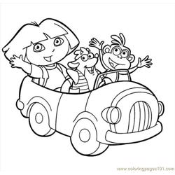 Dora Picture (2) Free Coloring Page for Kids