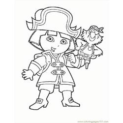 Dora 01 Free Coloring Page for Kids