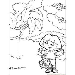 Dora11 Free Coloring Page for Kids