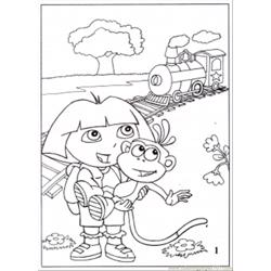 Dora1 Free Coloring Page for Kids