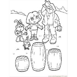 Dora6 Free Coloring Page for Kids