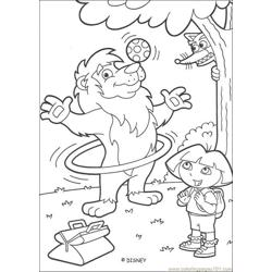 Dora Coloring Page Source D5t