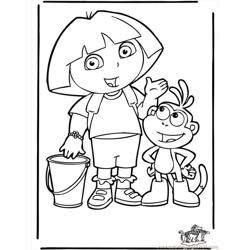 Dora The Explorer 4 B3003 Free Coloring Page for Kids