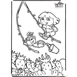 Dora The Explorer 6 B3005 Free Coloring Page for Kids