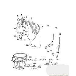 Horse Free Coloring Page for Kids