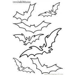 Bats Stencil Coloring Page Source Dwz coloring page