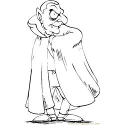 Dracula Vampire01 Source 3e8 Free Coloring Page for Kids