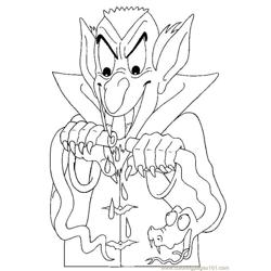 Dracula Vampire03 Source Ffa Free Coloring Page for Kids