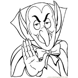 Dracula Vampire05 Source 4mz Free Coloring Page for Kids