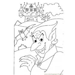 Dracula Vampire Source X8x Free Coloring Page for Kids