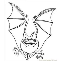 Halloween Bat01 Source 8hz Free Coloring Page for Kids