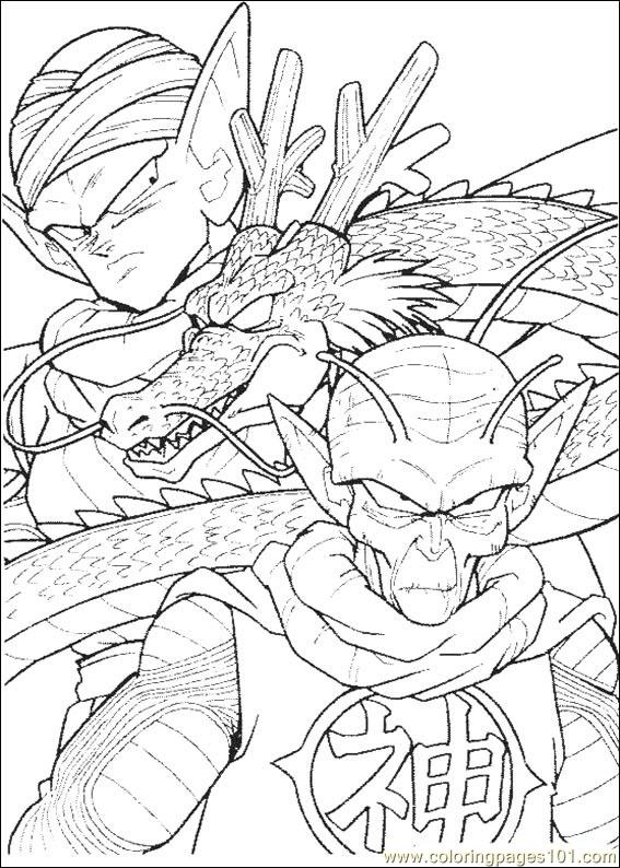 Dragon Ball Z 03 Coloring Page