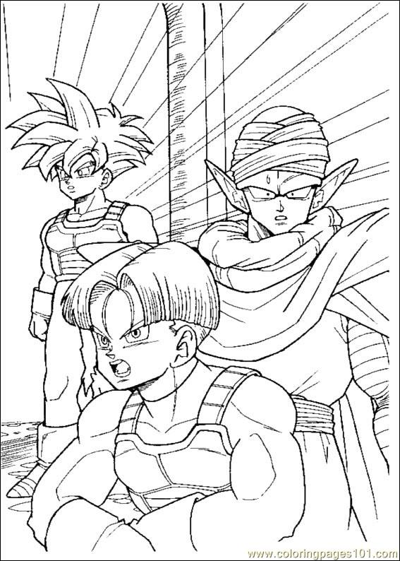 Dragon Ball Z 05 Coloring Page  Free Dragon Ball Z Coloring Pages