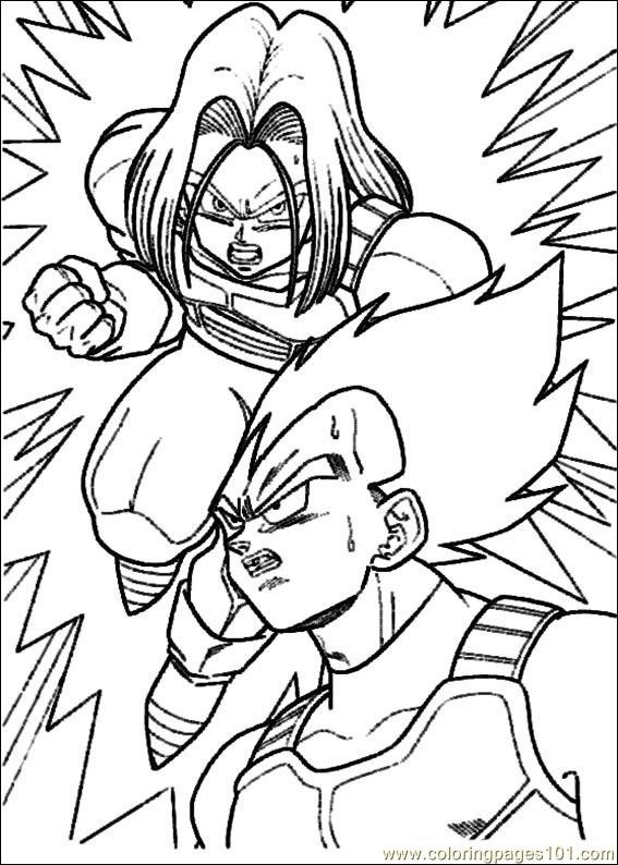 Dragon Ball Z 06 Coloring Page